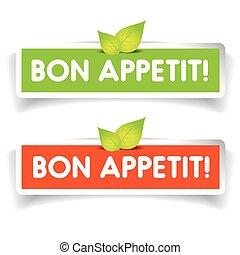 Bon Appetit! label vector