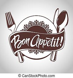 Bon Appetit - Vector icon for restaurant menu