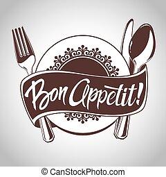Bon Appetit - Vector icon for restaurant menu