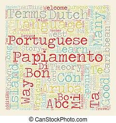 Bon Bini Learn How One Happy Island Welcomes You To Aruba text background wordcloud concept