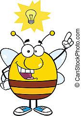 bon, caractère, idée, pudgy, abeille