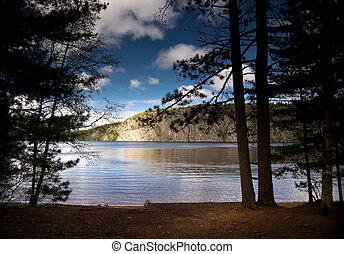 The Mazinaw Rock at Bon Echo Provincial Park in Ontario, Canada.