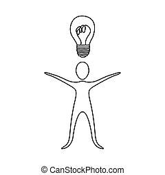 bon, figure, idée, personne, avoir, icône