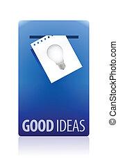 bon, idées, illustration, cabine