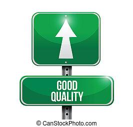 bon, illustration, signe, conception, qualité, route