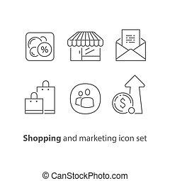 bon, shoppen , marketing, inkomsten, verhogen, omzet, korting, groei, programma, trouw, email, bevordering