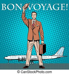 Bon voyage businessman passenger airport