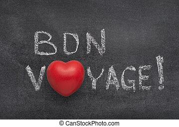 bon voyage heart - bon voyage exclamation (have a nice trip...