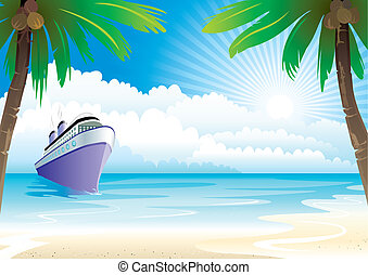 Bon Voyage Vacation, vector illustration layers file.