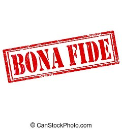 Bona Fide-stamp - Grunge rubber stamp with text Bona...