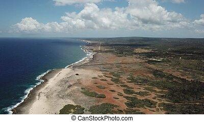 Bonaire island Caribbean sea coast lagoon video