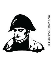 bonaparte napoleon, vector, cabeza