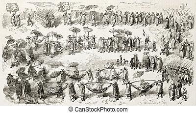 bonard, procesión