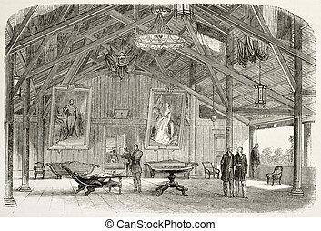 Bonard residence - Main lounge of Vice-Admiral Louis Adolphe...
