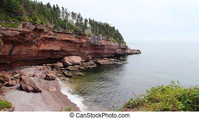 Bonaventure Island cove Gaspe Peninsula Quebec Canada...