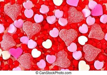 bonbon, saint-valentin, fond