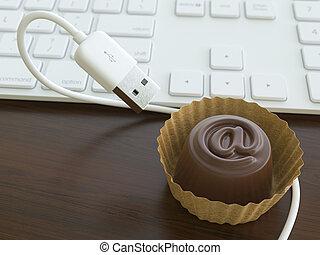 bonbon, usb câble