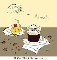 bonbons, café