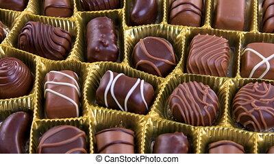 bonbons, chocolat, pralines, boîte