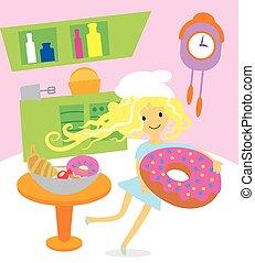 bonbons, cuisine, desserts, girl, vacances, cuisine