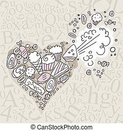 bonbons, exploser, coeur