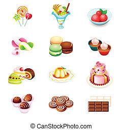 bonbons, icônes