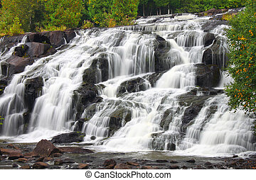 Bond Falls in northern Michigan