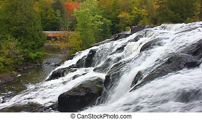 Bond Falls Northwoods Michigan - Beautiful Bond Falls flows...