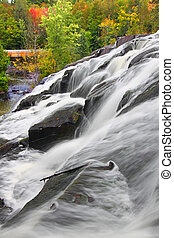 Bond Falls Scenic Area Michigan - Bond Falls Scenic Area on...