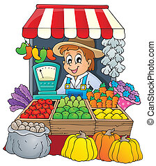 bonde, tema, avbild, 3