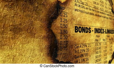 Bonds index grunge concept