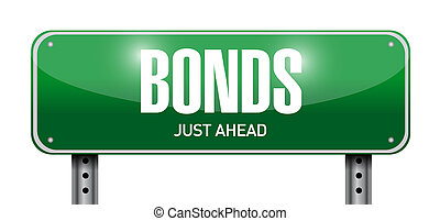 bonds road sign illustration design