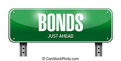 bonds road sign illustration design