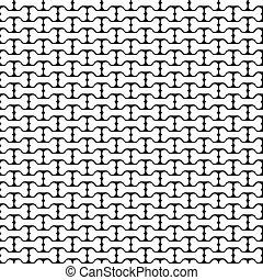 Bone Black and White Seamless Pattern