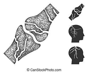 Bone Cancer Polygonal Web Vector Mesh Illustration