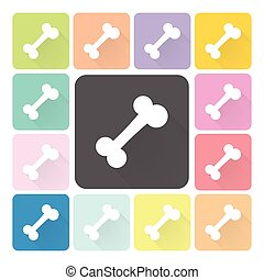 Bone Icon color set vector.