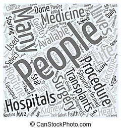 bone marrow transplant Word Cloud Concept