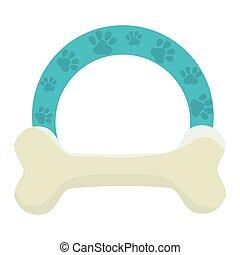 bone mascot isolated icon