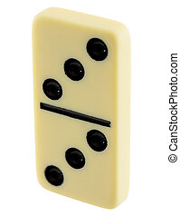 Bone of dominoes on the white background