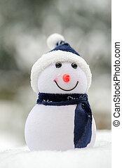 boneco neve, ao ar livre