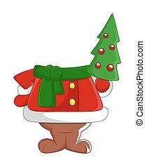 boneco neve, corporal, árvore, natal