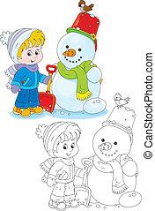 boneco neve, criança