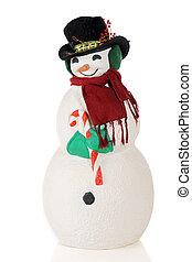 boneco neve, Retrato, corpo inteiro