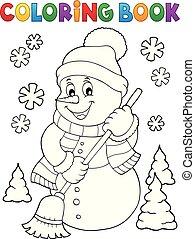 boneco neve, topic, coloração, 5, livro