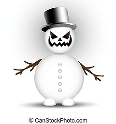 boneco neve, zangado