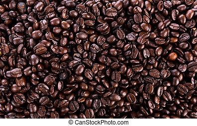 bonen, koffie, closeup, achtergrond
