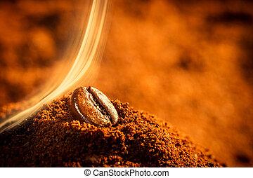 bonen, koffie, closeup, een