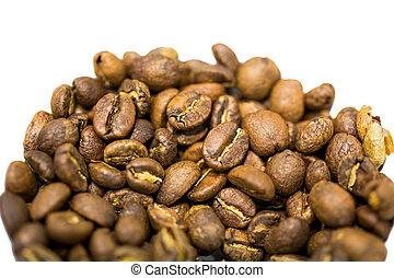 bonen, koffie, closeup, geroosterd