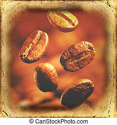 bonen, koffie, closeup