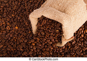 bonen, koffie, jutezak
